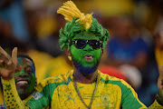 Mamelodi Sundowns supporter Mdeva during the CAF Champions League match between Mamelodi Sundowns and Rayon Sports at Loftus Stadium on March 18, 2018 in Pretoria, South Africa.