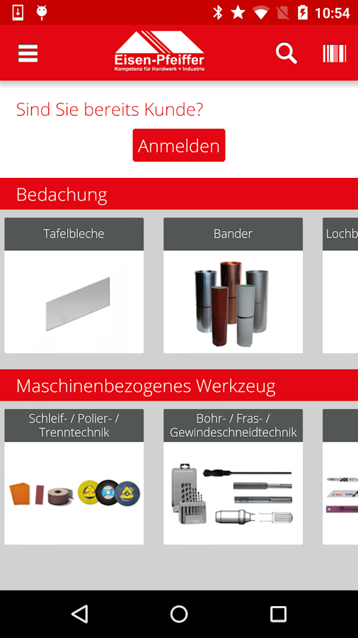 Eisen-Pfeiffer Shop App – Screenshot
