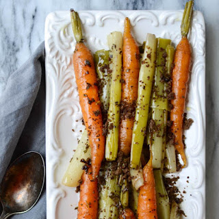 Braised Leeks and Carrots with Toasted Crumb Recipe