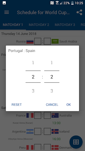 Schedule for World Cup 2018 Russia 1.0.0 screenshots 2