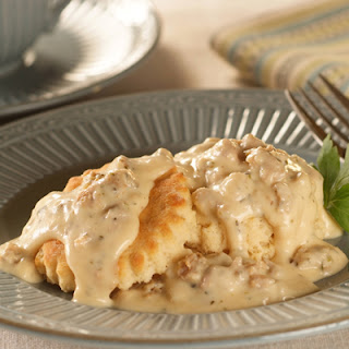 Down-Home Sausage Gravy Over Biscuits Recipe