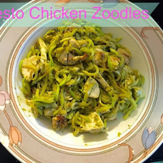 Pesto Chicken Pasta Two Ways (Carb and Carb Free/Gluten Free).