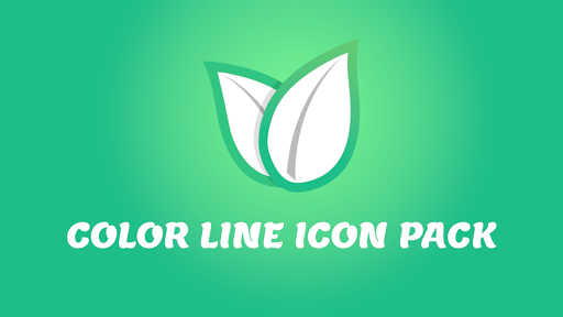 Color Line Icon Pack- Colored Lines on White Icons screenshot 5