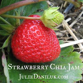 Raw Strawberry Chia Fridge Jam