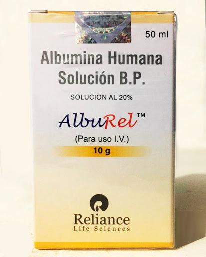 Albumina Humana Alburel Solucion I.V. 20g/100mL