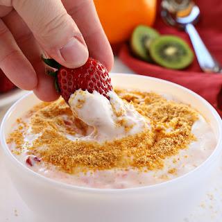 Strawberry Cheesecake Fruit Dip.