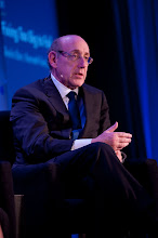 """Photo: Kenneth Feinberg makes a point during the """"Financial Regulation: Fixing Too Big to Fail"""" panel discussion Friday, Nov. 16, 2012 at the RAND Politics Aside event in Santa Monica, Calif."""