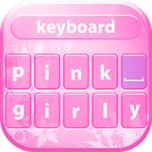Pink Girly Keyboard Theme