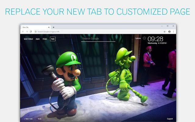 Luigi's Mansion 3 Wallpaper HD Luigi's Mansion 3 New Tab