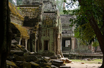 Photo: A short walk through the jungle leads to the more famous ruins of Ta Prohm.