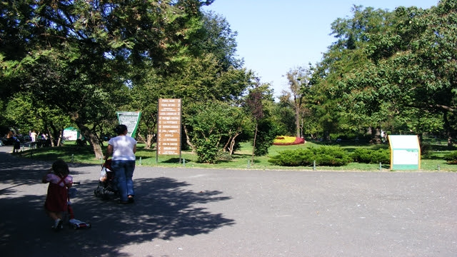 Entrance to Cismigiu Garden Bucharest