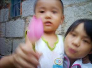 Photo: me with lotus.