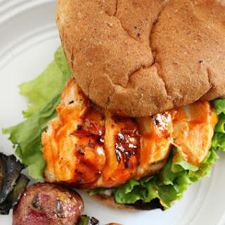Grilled Buffalo Chicken Burger & Ranch Potatoes