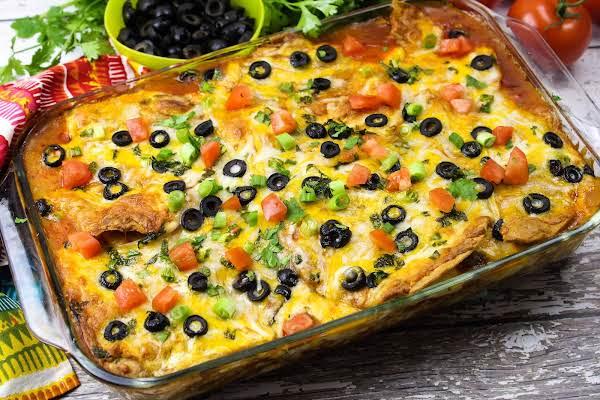 Robin's Enchilada Pie Ready To Serve.