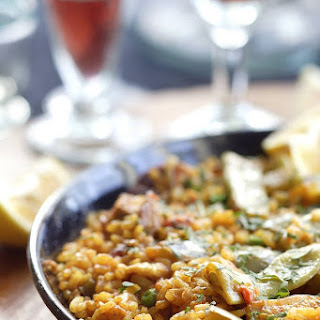 Paella With Chicken.