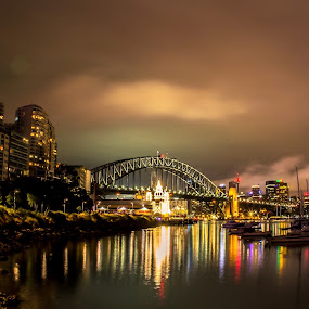 Sydney Harbour, Australia by Ellen Foulds - Landscapes Starscapes ( sydney harbour, waterscape, architecture, landscape, nightscape )