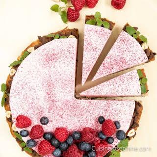 Rhubarb Mousse Cake.