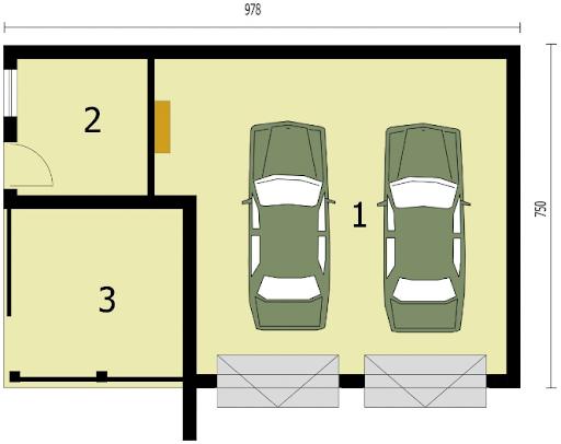 G255 - Rzut garażu