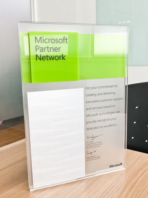 Microsoft Partner Network 인증서
