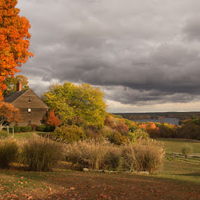 :: fall in new england :: by April Brown - Landscapes Prairies, Meadows & Fields ( farm, sutton, colors, foliage, fall )