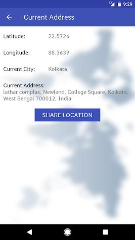 Mobile GPS Location Screenshot