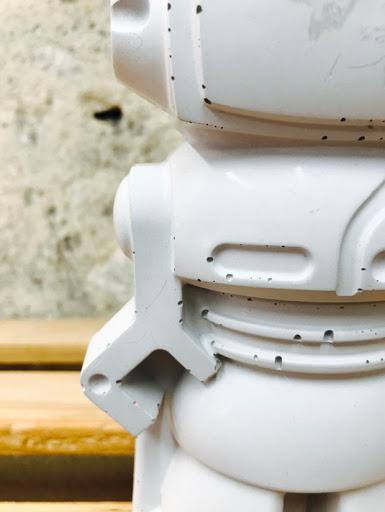 robot en béton détail de la réalisation