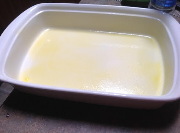 Spray a 9 X13 size casserole dish with non stick cooking spray. Set aside...