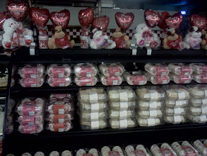 Photo: They are all stocked up ready for the holiday parties, that's a lot of Valentine goodies!
