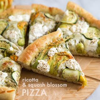 Ricotta and Squash Blossom Pizza