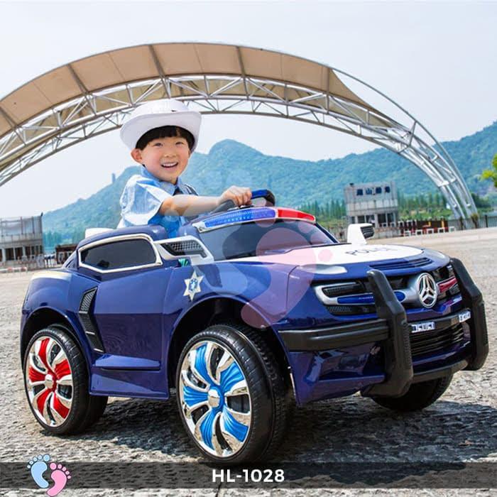 Xe ô tô điện cảnh sát HL-1028 1