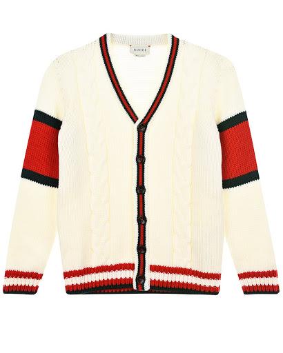 Белый кардиган из шерсти детский GUCCI 512524 X1577 9112 купить