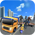 Fighting Car Robot Transporter Truck icon