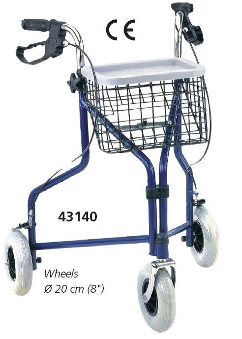 3-Hjuls Rollator Blå