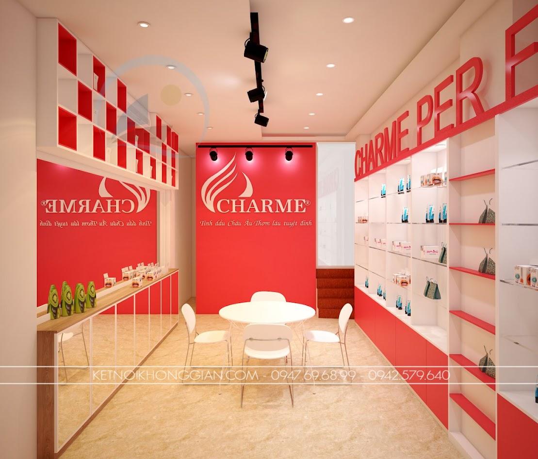 thiết kế shop nước hoa charme 2