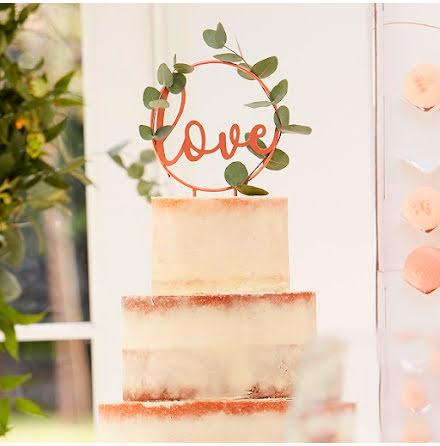 Tårtdekoration Love - Botanical wedding