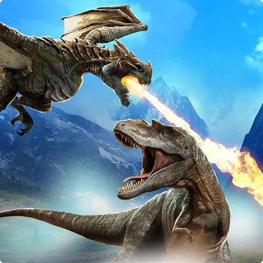 Dragon Vs Dinosaur Hunter: Dinosaur Games Android APK Download Free By Redcorner Games