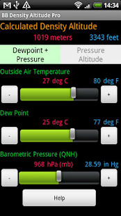 BB Density Altitude Calculator - Apps on Google Play
