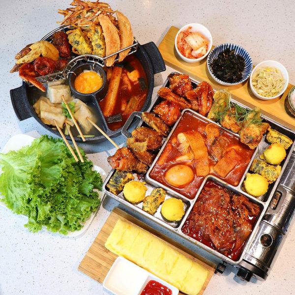 韓式料理推薦,哈摩尼韓食堂,新菜色3D鍋超浮誇精選明洞特色小吃,三色炸雞、炸冬粉扁餃、釜山魚板等料理!