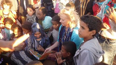 Photo: Educational activities with Wanda and children