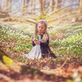 In the magic forest by Danuta Czapka - Babies & Children Child Portraits ( children portrait, childhood, springtime, children photography, children photographer,  )