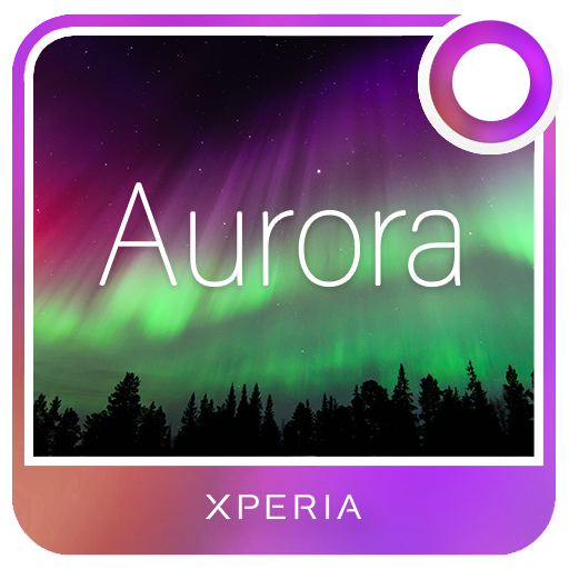 Xperia™ Theme - Aurora Sky
