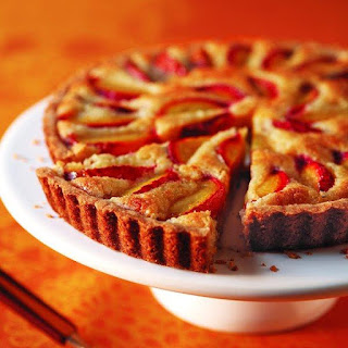 Almond and Plum Tart.