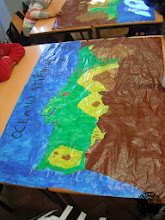 Photo: Map of Portugal made by kids
