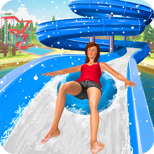 Water Park Snow Ride: Free Slide Games