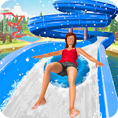 Water Park Snow Ride: Free Slide Games