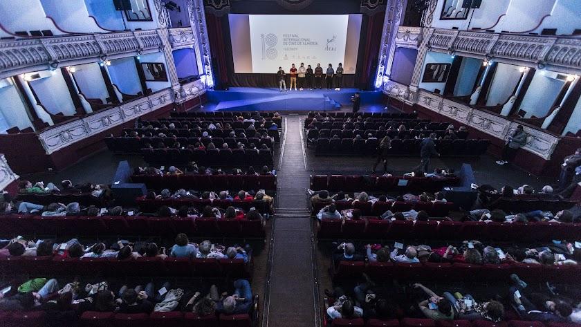 Proyección de Fical en el Teatro Cervantes en una imagen de archivo.