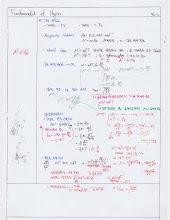 Photo: Notetaking - Fundamental of Physics