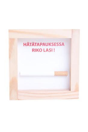 Finsk, i nödfall krossa glaset cigarett