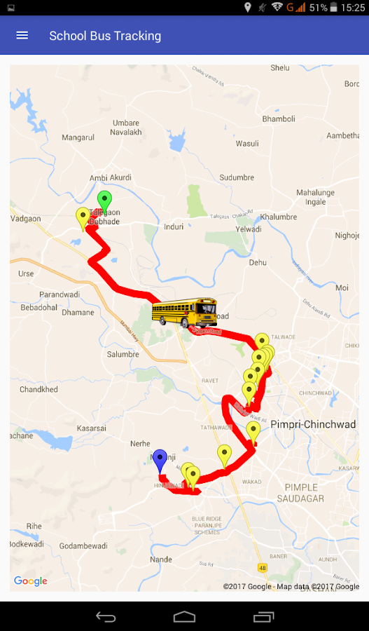 school bus tracking- screenshot