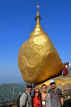 Photo: Golden rock at Mt. Kyaiktiyo